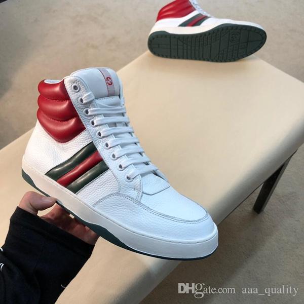 Vitesse Formateurs Hommes Casual Skateboard Bee Designer Shoes Ace Signature Sneaker Fashion Stripe High Top Ace luxe Chaussures de sport avec la boîte