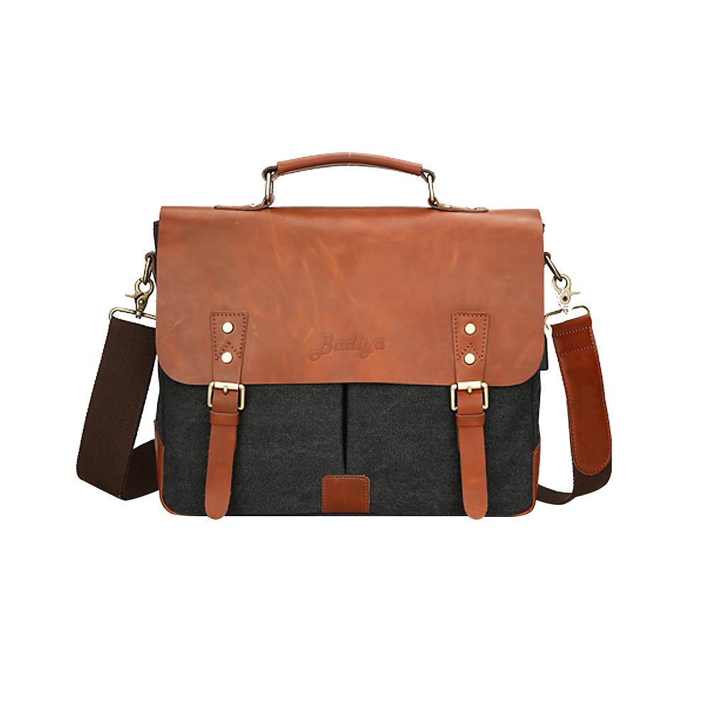 Ретро из натуральной кожи холстины Лоскутная мужские Бизнес портфель на ремне с Usb зарядное Мужской Портативный сумки новые