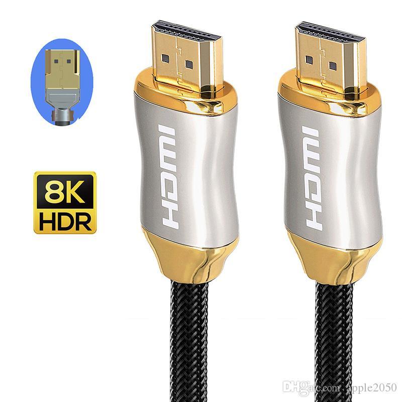HDMI 2.1 كابل عالي السرعة 144hz 8K 3D كابل لالفاصل تبديل TV LCD أجهزة الكمبيوتر المحمول PS3 العارض كابلات الكمبيوتر