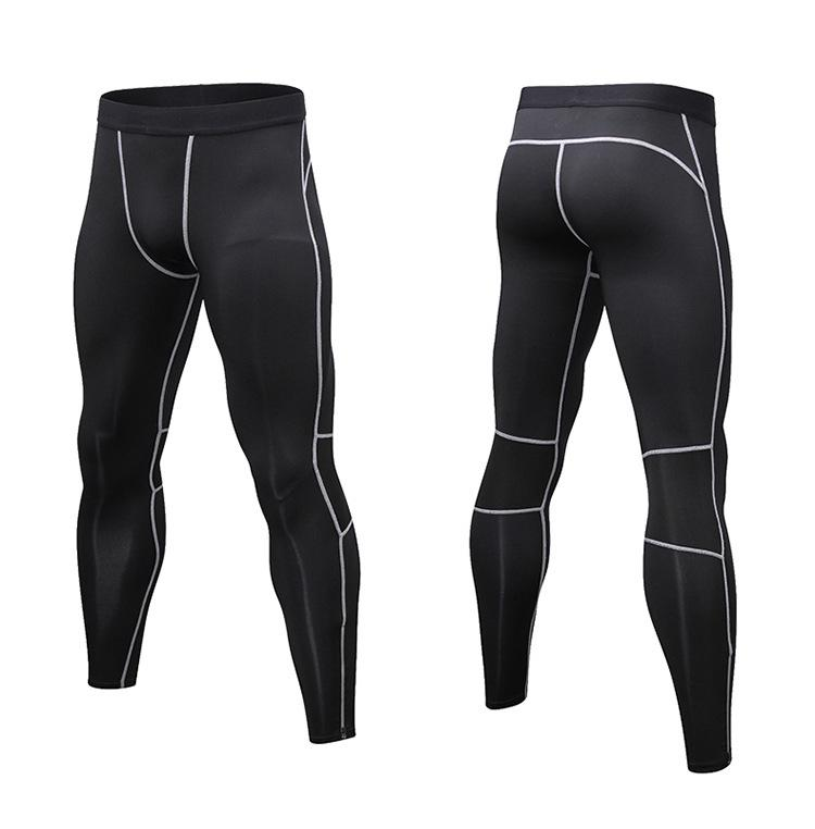 Men's sports pants with reflective zipper breathable quick dry tight sport pant for men leggings fitness