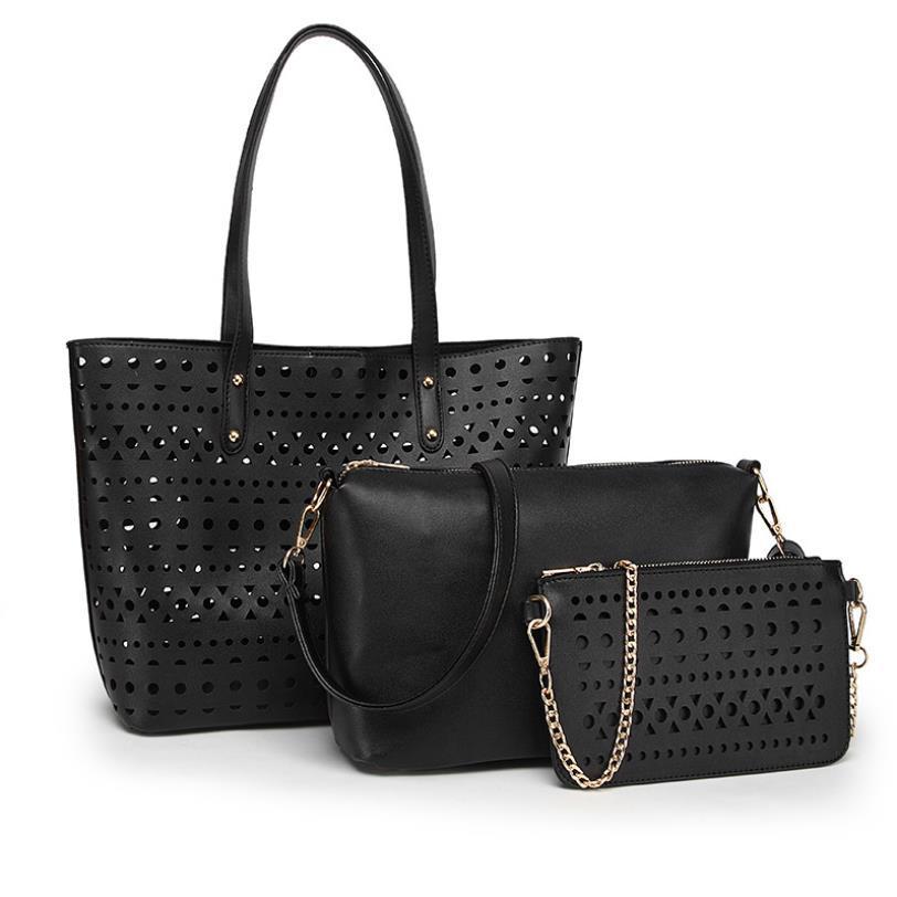 Haute Qualité Femmes Marque Mode Marmont de luxe de sacs en cuir PU Sac à bandoulière Sacs à main 3pcs Sac à bandoulière # n3r6j