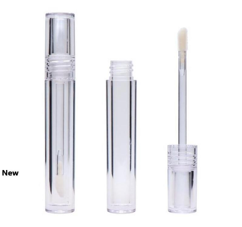 Brillant à lèvres Tubes vides 7.8ML Lipgloss Tubes ronds transparent brillant à lèvres Tubes avec Wand Vider 100pcs Effacer EEA1713