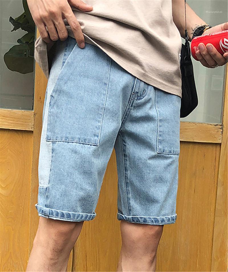 Shorts lose Designer Short Mens Jeans-beiläufige mittlere Taillen-Knie-Länge Male Pants Plus Size Herren