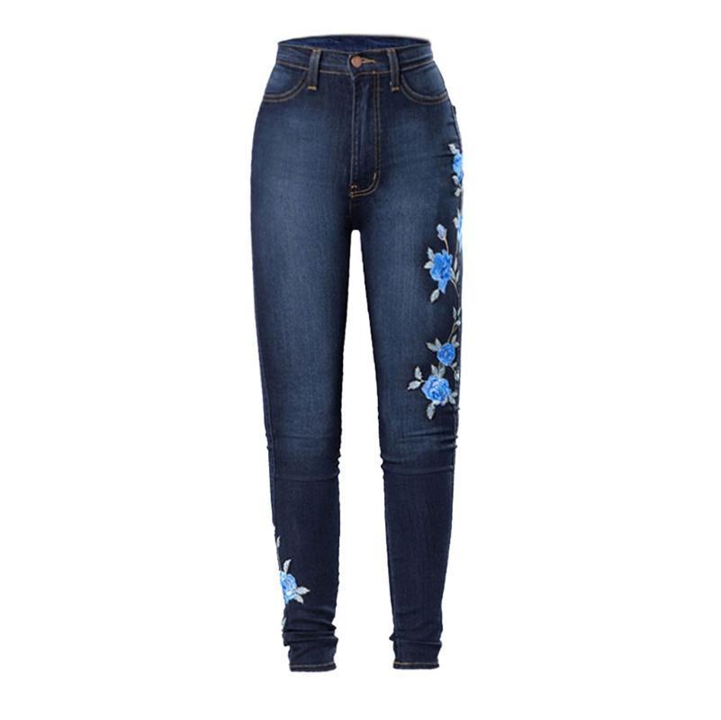 Стильный Новые джинсы ретро печати поножи Sexy высокой талией вскользь Stretch Pants лета Удобные женские брюки Vestidos 2020