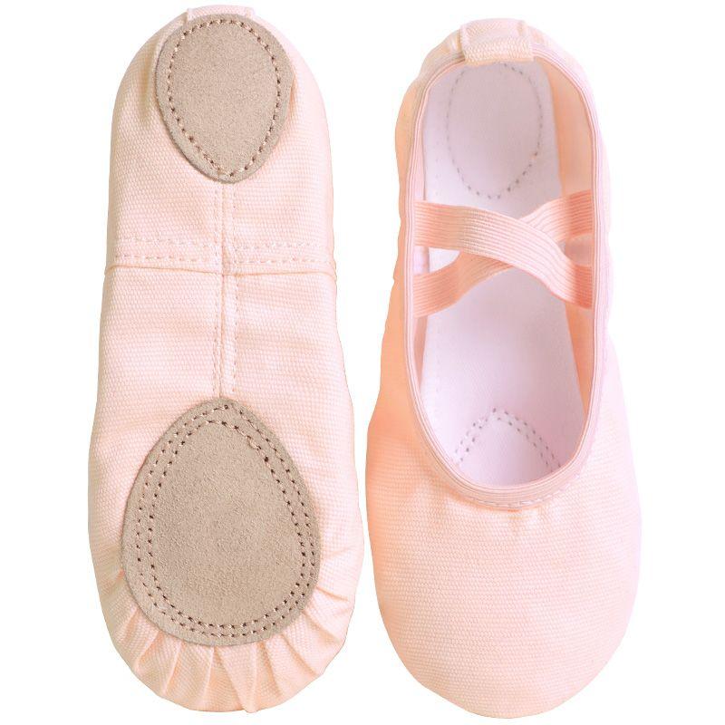 Новый дизайн Детский танец тапочки для взрослых Профессиональный Canvas мягкой подошвой балеток Девушки Женщины Дети Балетные пуанты