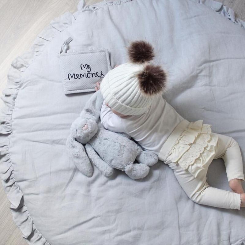 Nordic bebê recém-nascido estofados game pad algodão macio rastejando mat tapete redondo jogo menina para as crianças sala de decoração de interiores LB61301