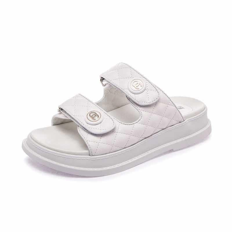 Barato caliente de las mujeres forman los zapatos de la correa de las sandalias de playa zapatos para hombre de piel tejida Pisos Negro Blanco Fracasos de tirón # 910