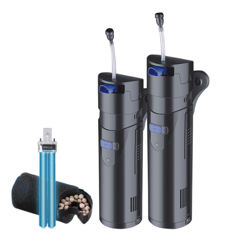 bomba de aire lámpara germicida Sunsun multi-función de filtro UV acuario de peces ornamentales acuario lámpara germicida con aireador de filtro
