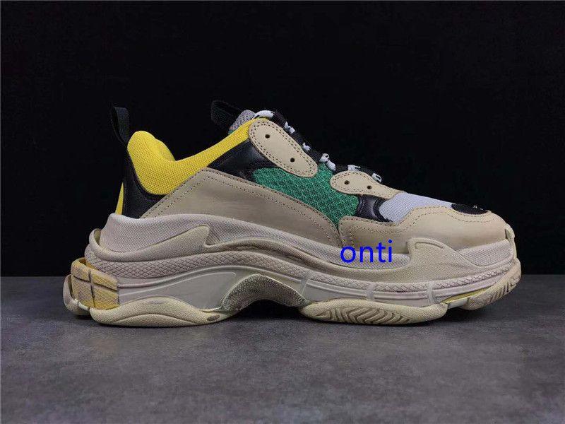 Multi Luxury Triple S Designer Low neue Ankunfts-Sneaker Kombination Soles Stiefel der Frauen Männer Laufschuhe Top-Qualität Sport-beiläufige Schuh