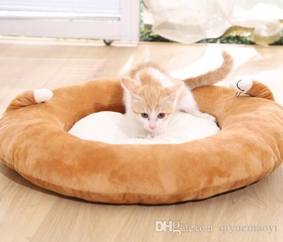 Pet cushion bed dog supplies luxury dog bed sofa dog cat pet cushion washable nest cat teddy puppy mat brown
