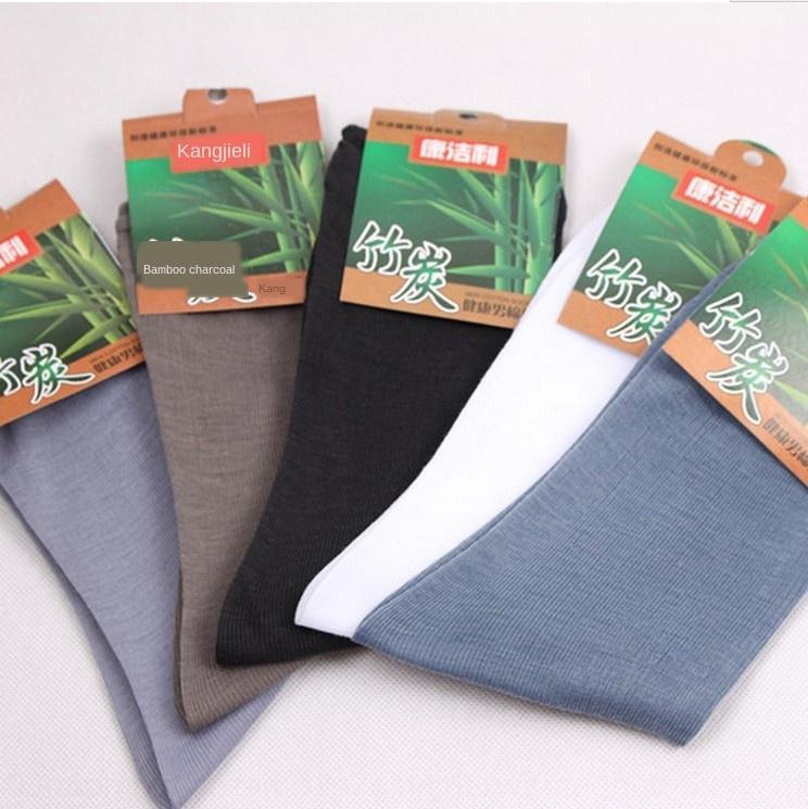 Unabhängige Bambusfaser und Männer Normallack dünner Medium Socken Herrensocken