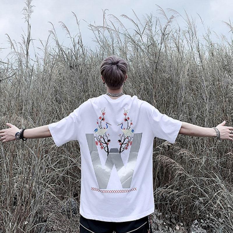Camiseta Masculina de alta qualidade verão Estilo 19SS 3 m reflexão t camisa t camiseta Superior con impressão