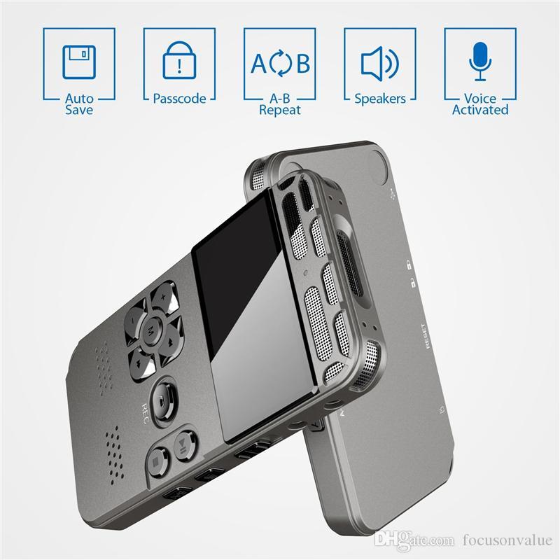 Gravador de Voz Digital HD gravador de áudio Detafone MP3 Display MP3 Display Voz Ativado 8GB 16 GB Memória Redução de Ruído Gravador de Voz