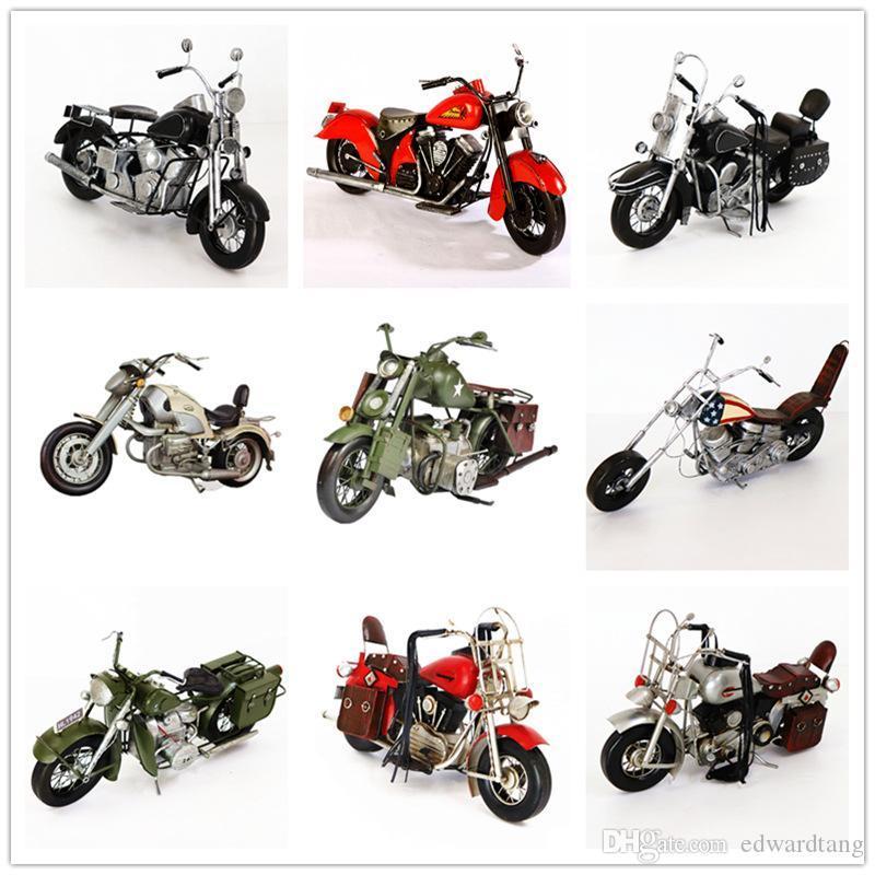SL Retro modello del motociclo, latta Vintage BMW Harley Motor, a mano ornamento, per la festa di Natale regali di compleanno, Collezioni, Decorazione