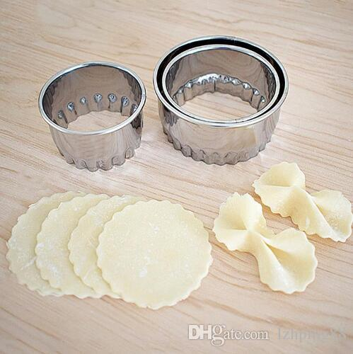 3pcs Stainless Steel Cutter Dumplings Mould Maker Dumpling Skin Device Dough Press Pancake Tools Kitchen Gadgets