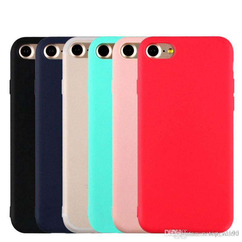 캔디 색상 평범한 전화 케이스 아이폰 x 8 7 부드러운 TPU 실리콘 전체 덮개 XS 최대 xr capa