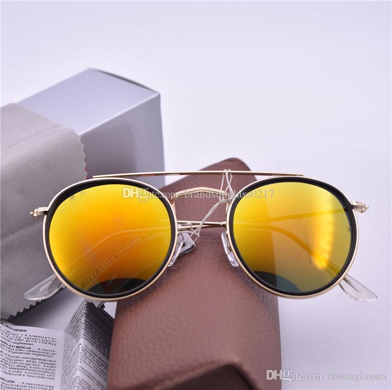 Роскошный бренд Мода Cat Eye Солнцезащитные очки Мужчины Женщины Зеркало Vintage солнцезащитные очки конструктора тавра круглый r3647 Sunglass с чехлом и коробкой