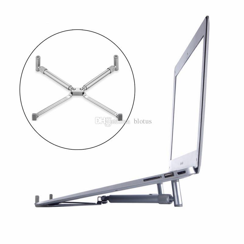 Taşınabilir Dizüstü Standı Tutucu Katlanır Ayarlanabilir Standı Dizüstü Standı Alüminyum Dizüstü Macbook Dizüstü Notobook Için X-Standı Tutucu