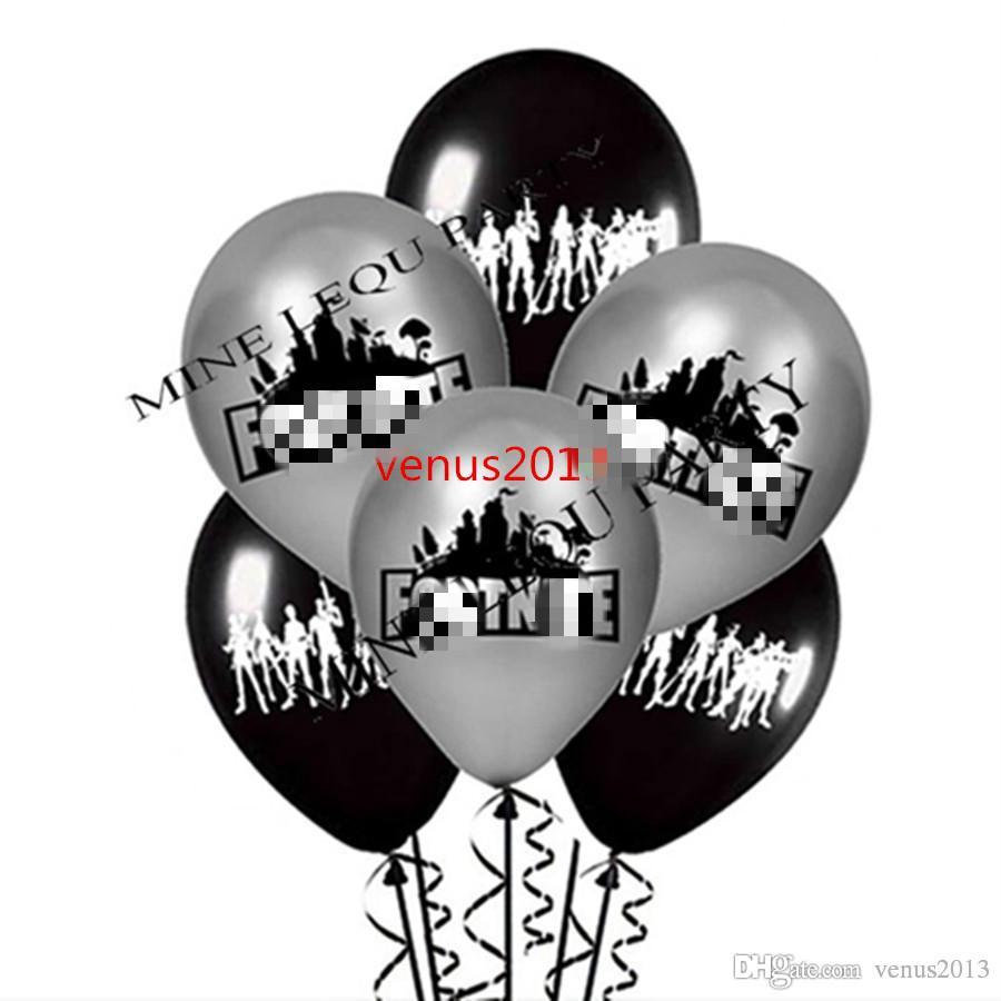 Бесплатная доставка черный и серебристый на ночь шар мака латексные шары Globos день рождения праздничные атрибуты детские игрушки подарки украшения брака