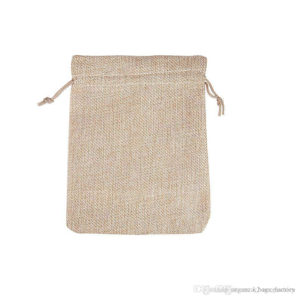 7x9cm 9x12cm 10x15 13x18cm original COLOR jute Bag Drawstring Wedding&Christmas Packaging Pouchs & Gift Bags Small Jewelry Sachet Jute bags