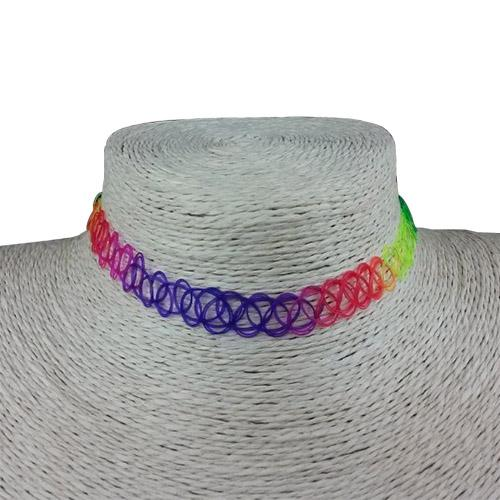 New Choker Necklaces Colorful Chokers Holiday Seaside Resort Beach Jewelry Water Drop Circular Cobwebbing Clavicle free shipping