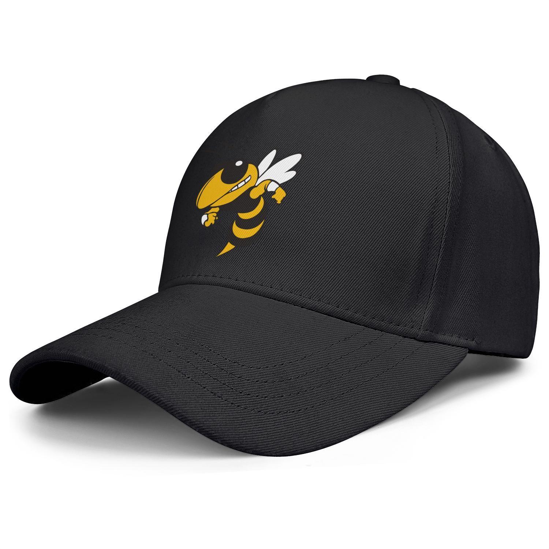 GA Tech Yellow Jackets футбольный логотип Мужская женская регулируемая крышка Snapback с установленными козырьками Крышки белый черный Радужная радуга Золото