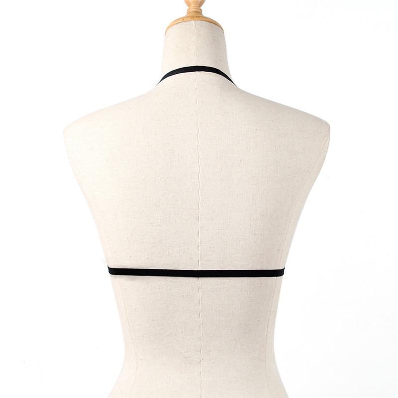 Reizvolle anziehende Bustier Verband Cage Cupless Bra Lingerie Goth elastische Wäsche Verband Gürtel Crop Tops