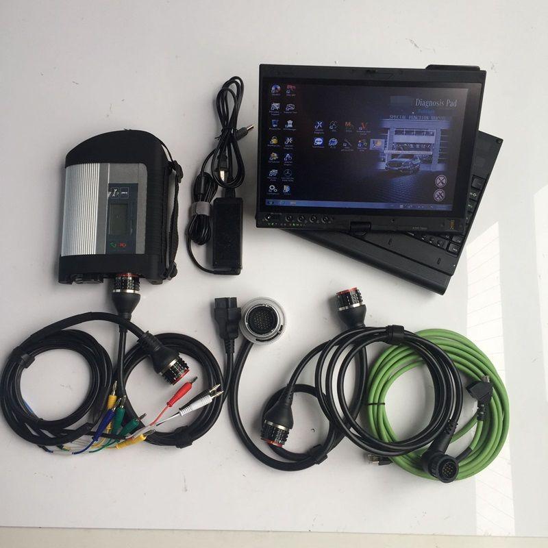 TOP MB STAR STAR C4 Strumento diagnostico WiFi Software VediaMo Nuovo SSD con X200T Touch Laptop Set completo