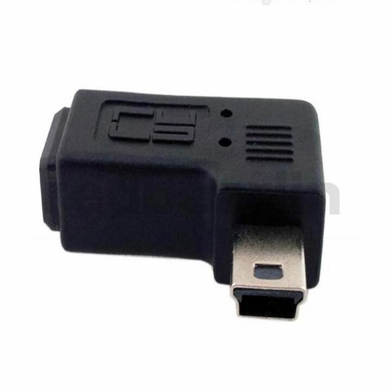 Adaptateur mini USB mâle à femelle 90 degrés angle droit et gauche Adaptateur étendu Mini USB 5 broches
