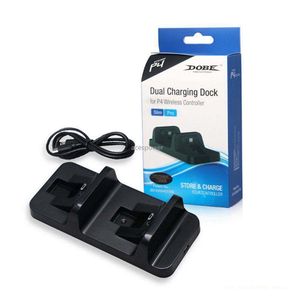 Regolatore doppia maniglia per PS4 controller wireless USB Dual Charging Dock Station stand per il gioco del caricatore della staffa della culla