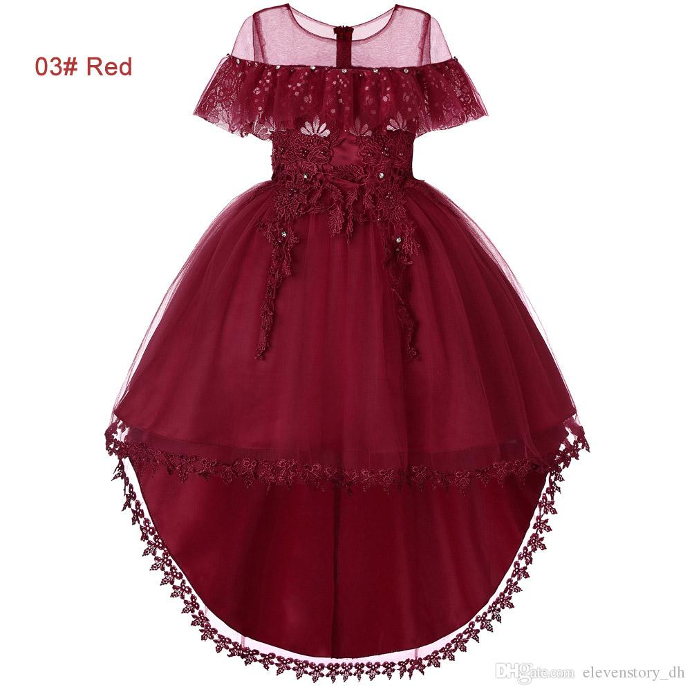 Compre Vestido De Tul Con Diamantes De Imitación Asimétrico Para Niñas De 4 A 12 Años Blanco Rosa Rojo Púrpura Verde Ropa De Boutique Para