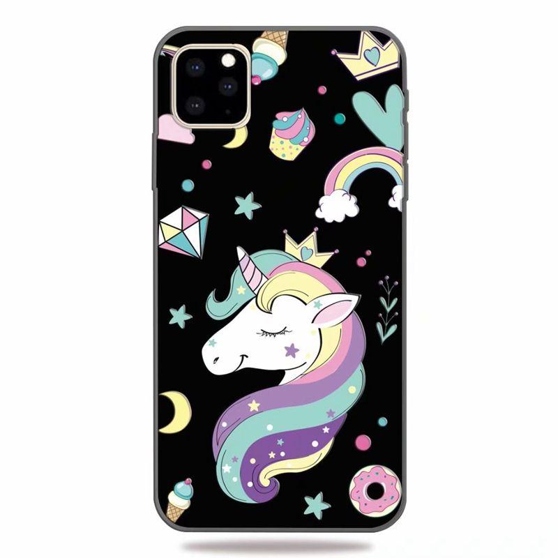 Einhorn weiche TPU Hülle für Galaxy Note 10 S10 M10 M20 Iphone 11 5,8 6,1 6,5 Zoll 2019 Tiger Lion Panda Schmetterling Blume Marmor Relief Cover