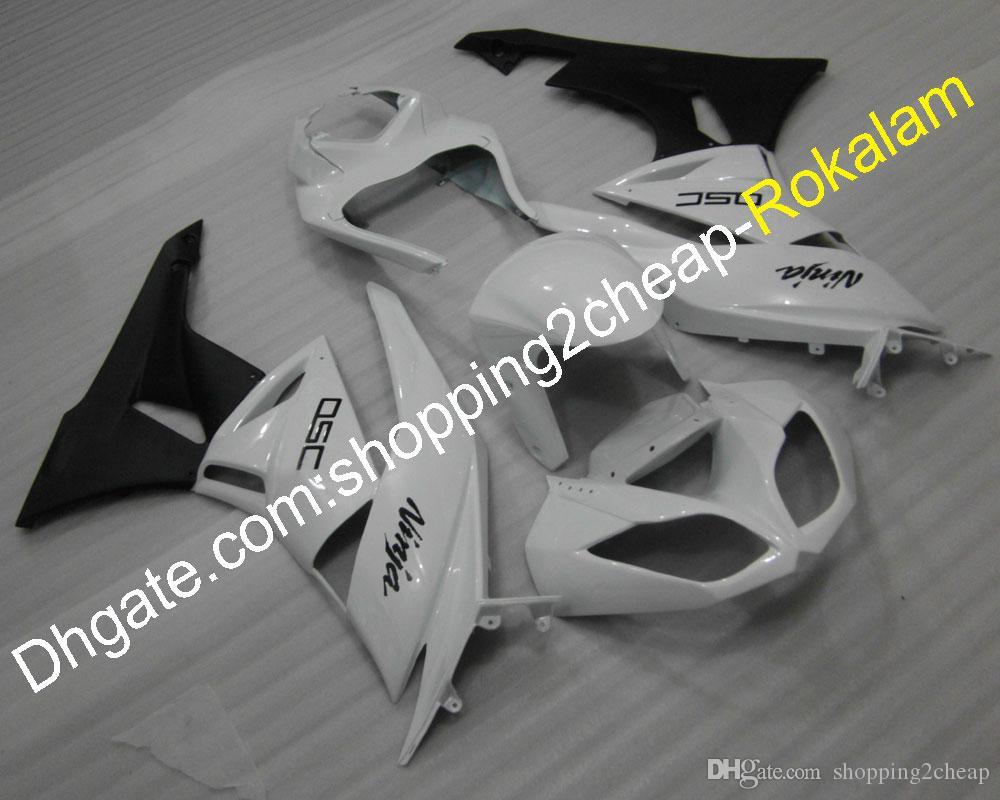 Белое черное обтекательство для Kawasaki ZX6R ZX-6R ZX636 ZX 6R 2009 2010 2011 2011 2012 Moto Обтекивание кузова (литье под давлением)