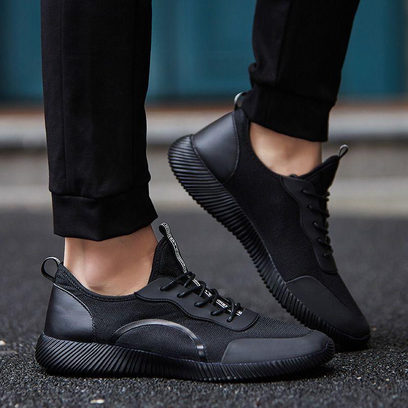 Sarı Erkek Ayakkabı 2018 Erkek Günlük Ayakkabılar Yaz Nefes Flats Işık Erkek Erkek Yürüyüş Açık Sneakers Büyük Boy 35-48