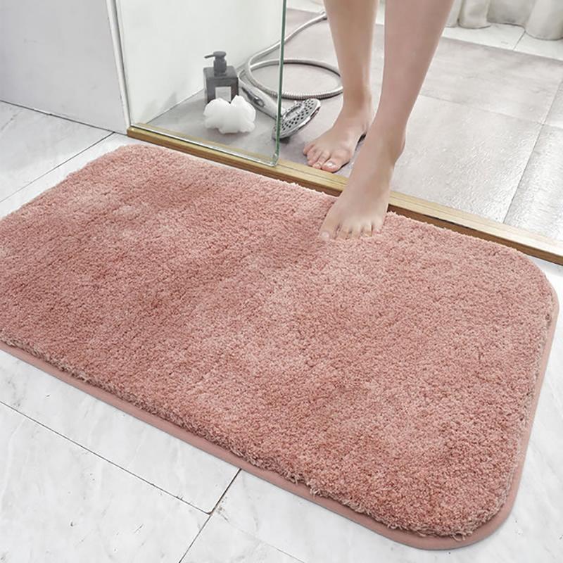 Floor Mat Bath Decor Anti Slip Small Yellow Duck Flocking Door Mat