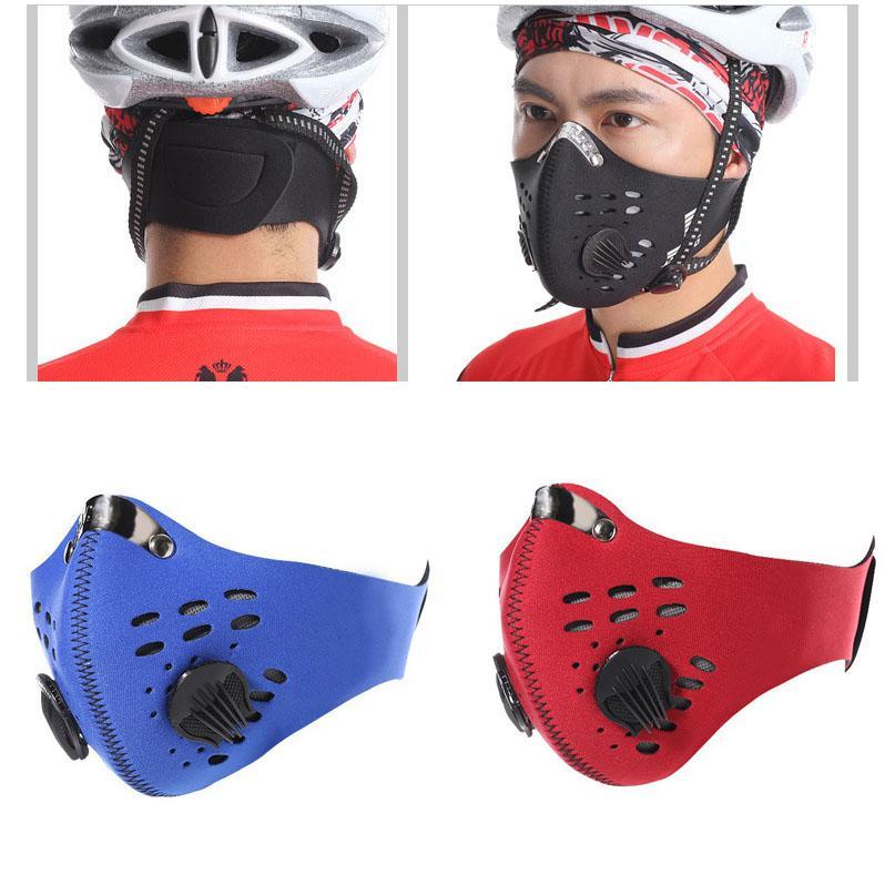 Máscara de poeira PM2.5 Neoprene Smog Nevoeiro Motorbike equitação face máscaras filtro de ar atacado fumaça anti odor máscara de pó XD23200