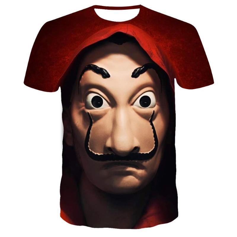 2020movie Geld heist das Haus von Papier La Casa de Papier T-Shirt der Männer lustig Berlin 3D-Druck Kleidungssommer T-Shirt der Männer