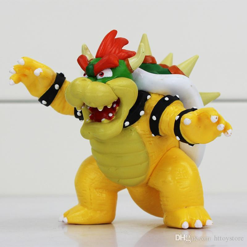8cm Super Mario Bowser Koopa PVC Action Figures Toy Collection Model Gifts For Boys Girls Children