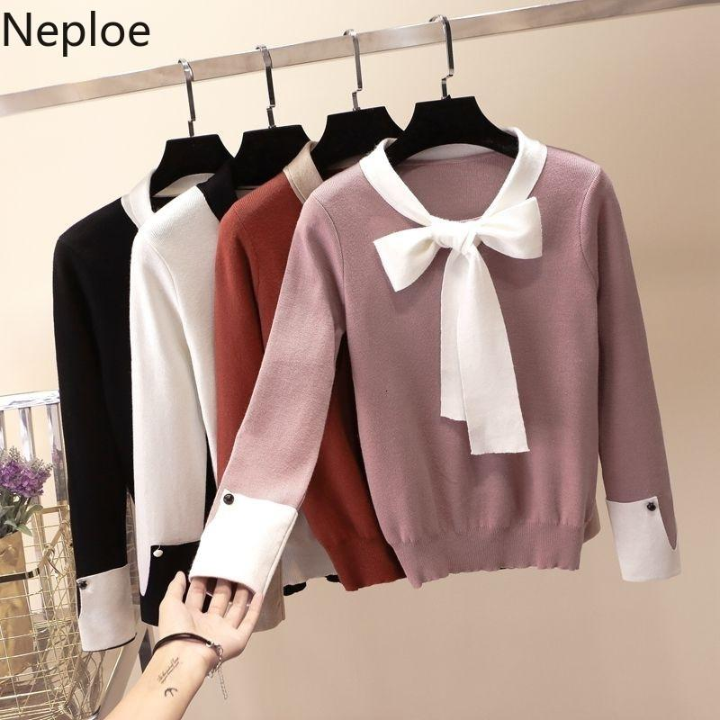 Neploe Sweater Female 2019 Autumn Winter Clothes Slim All-match Elastic Knit Pullover Cute Women Sweaters Korean Femme Jumper Y191023
