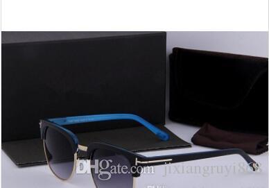 Lunettes de soleil rondes de mode pour hommes Femmes Marque Designer lunettes de soleil femmes hommes Plank Frame Flash Mirror UV400 Lentille avec étui et boîte
