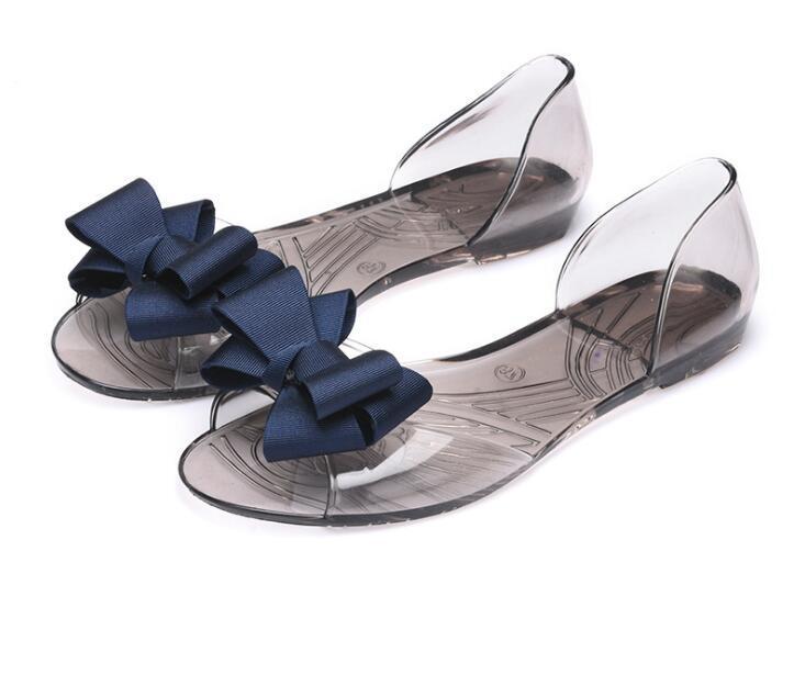 Sıcak Satış-Yaz sandalet kadın ayakkabıları sandaletler kadın yaz düz jöle ayakkabı balık ağzı ayakkabı plaj kadın yay