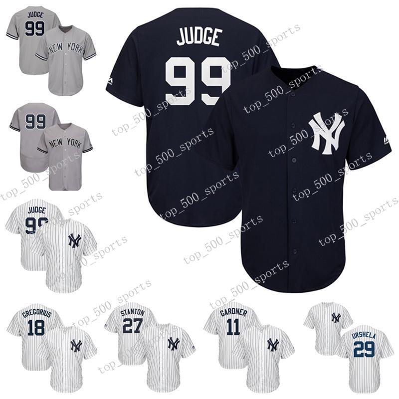NY MENS Jersey Aarony Juez Didi Gregorius Giancarlo Stanton Gio Urassella Brett Gardner Jerseys de béisbol Custom Any Players Jerseys 1