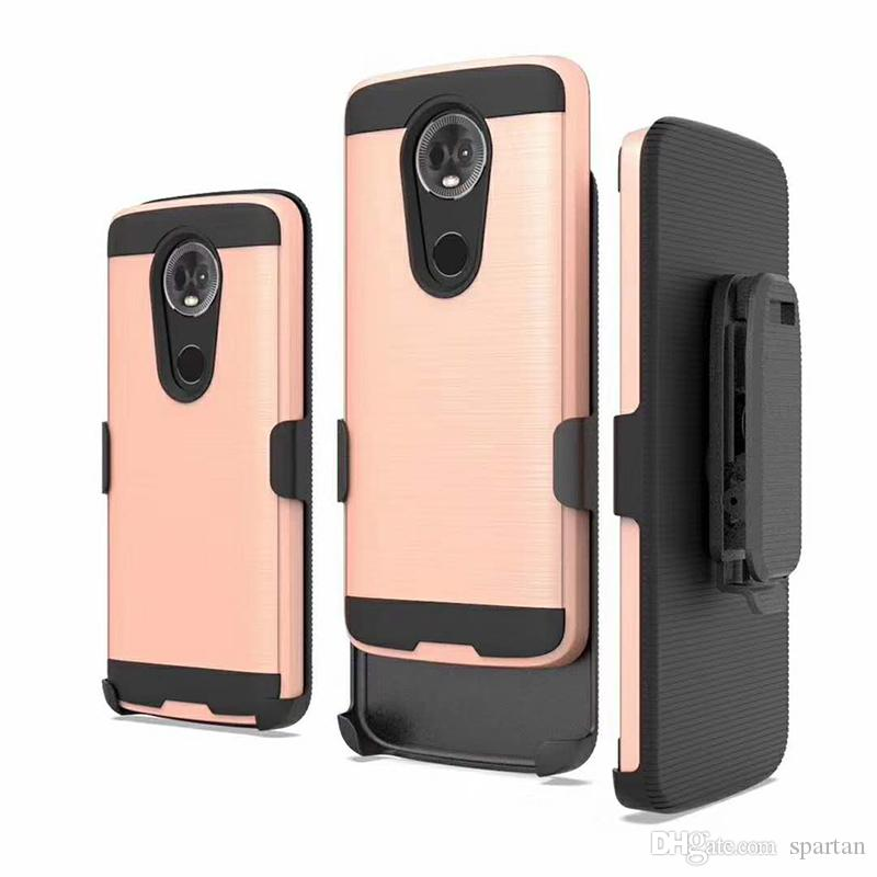For LG Aristo 2 K30 Q7 Plus samsung A7 2018 Rugged Armor Phone Case and Back clip Protector Cover with OPP Bag