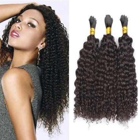 Mongolian Afro Kinky Curly Bulk Hair For Braiding No Weft Natural Color Human Hair Bulk For Black Women