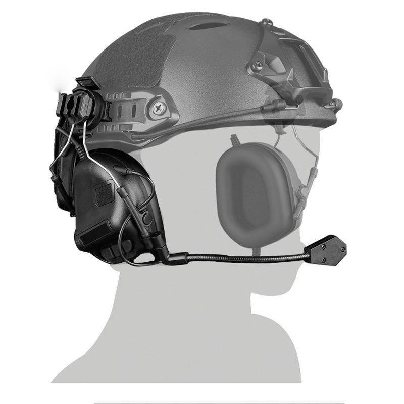 Capacete tático Cabeça Vestindo Versão Headset Airsoft Tiro Caça Fone De Ouvido À Prova D 'Água Combate Wargame Headset Paintball Fone de Ouvido