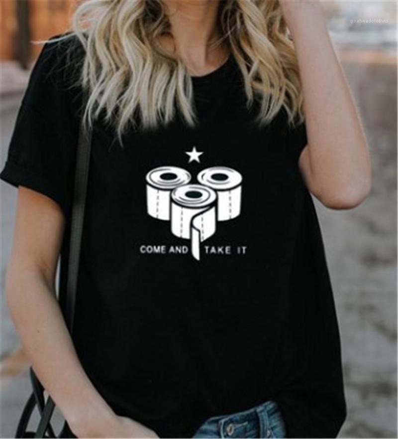 Kommen Kurzärmlig und Take It Brief gedruckt Tops Female Crew Neck Kleidung-Sommer-Damen Designer-T-Shirts