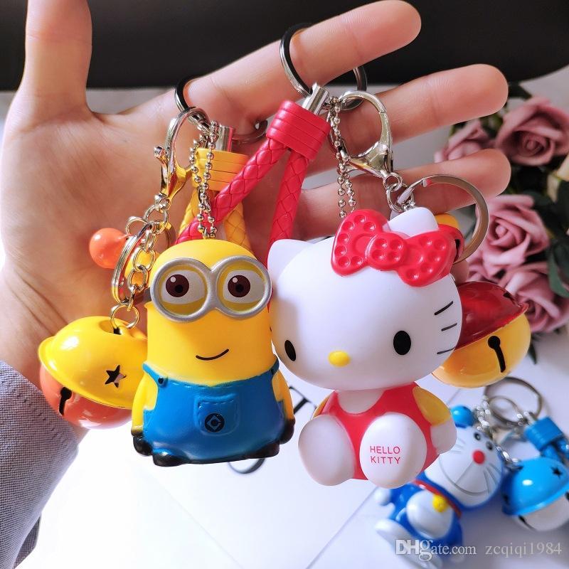 Cartoon Animal keychain cute silicone rabbit key pendant creative gift stereo cartoon key ring pendant for kids toys