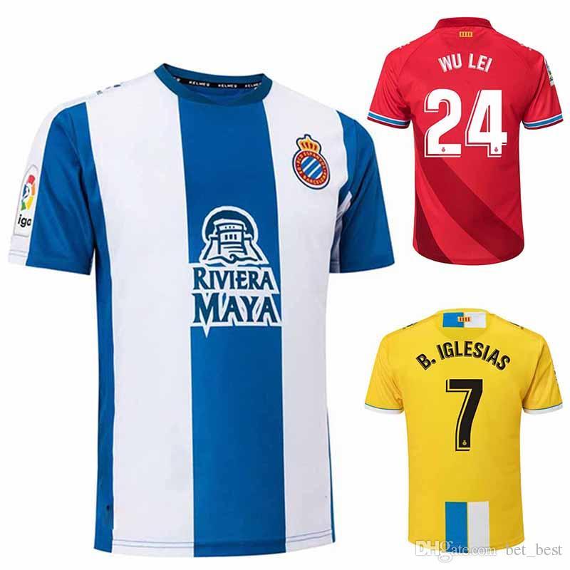 Acquista 2018 Rcd Espanyol Home Maglia Da Calcio B.Iglesias Marc Roca 18 19 Away Red Maglia Da Calcio 2019 Wu Lei Deportivo Español Victor Maglia Da ...