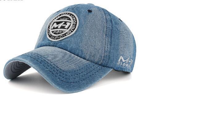 5 couleurs snapback casquettes de soleil crêtés Demin chapeaux de base-ball Jean insigne broderie chapeau M1 pour les hommes femmes sport fille garçon casquette réglable 2020 plein air de