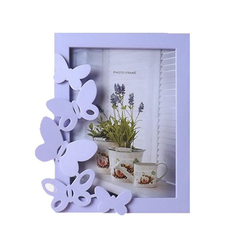 7 pulgadas marco de la tabla del estilo coreano de Inicio de marcos de fotos Moda de plástico moldeado Foto pared de colgante de regalo Pasillo Decoración